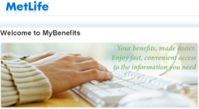 MetLife MyBenefits Account Log on to Common Access Page