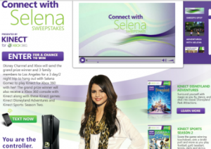 Connect with Selena Sweepstakes for Disney Channel and Xbox Grand Prize