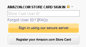 Amazon Credit Card Login
