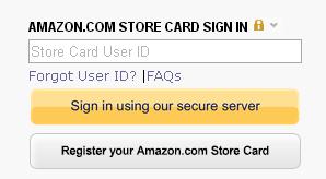 Amazon Credit Card Login