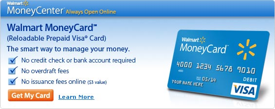 Deposit into Walmart Money Card