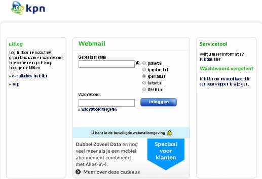 www.kpnmail.nl inloggen