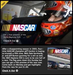 NASCAR_Newsletters