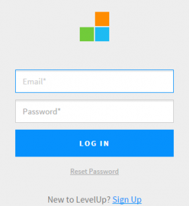 Screenshot of LevelUp Login Page