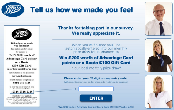www.ourboots.com Feedback Survey