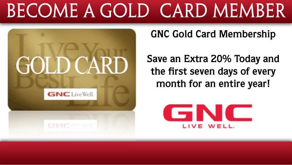 gnc gold card Membership customer service number