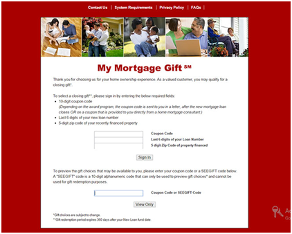 wells fargo mortgage gift options