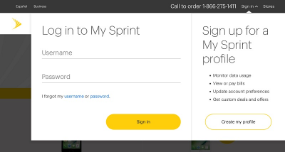 sign up for my sprint account