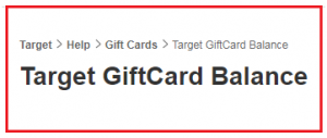 Target Balance Gift Card