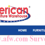 American Furniture Warehouse Survey – www.afw.com