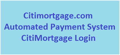 CitiMortgage Login