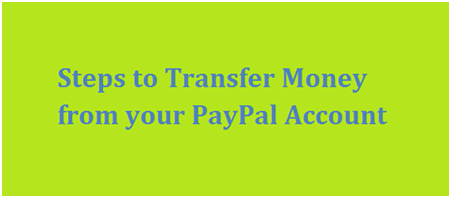 Transfer Money from PayPal Account