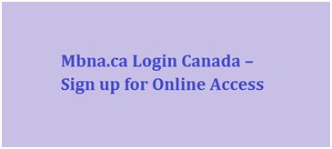 MBNA Canada Login