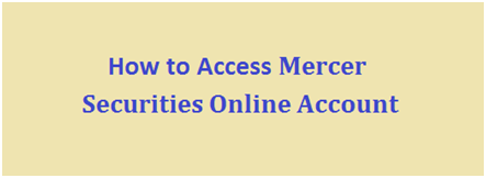 Mercer Investments Login