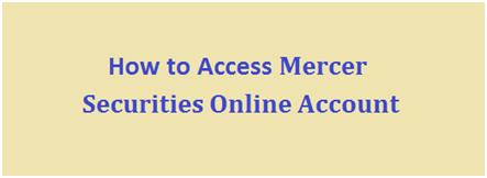 Mercer Investments Login