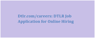 DTLR Job Application