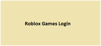 Roblox Games Login